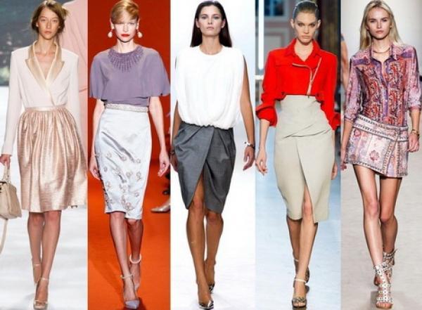 Что сейчас модно носить с юбкой