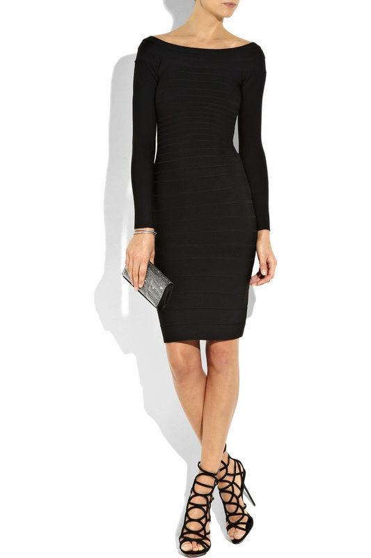 Черные облегающие платья до колен