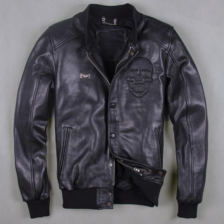 50701acfe4d Кожаная куртка с черепом 3894. Мужские кожаные куртки Другие купить ...