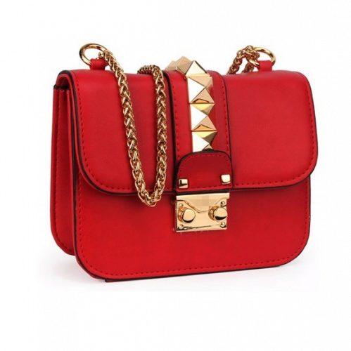 Женская красная сумка my rockstud VALENTINO купить за