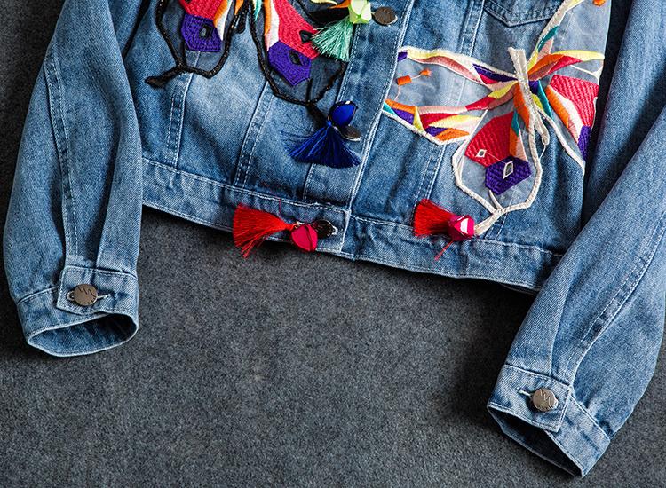 Вышивка на джинсовой куртке своими руками