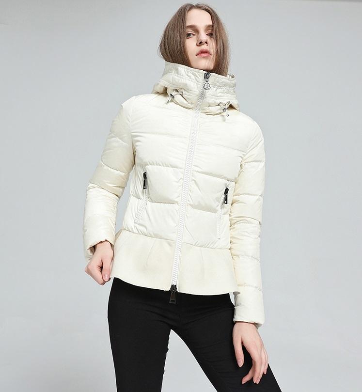 Купить белый пуховик женский