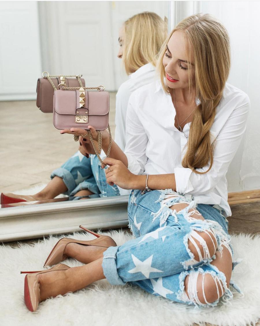 Рваные женские джинсы с доставкой
