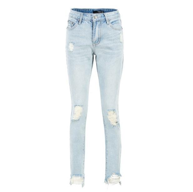 9cec0d7f5707 Светлые рваные джинсы 12709. Женские джинсы Другие купить по лучшей ...