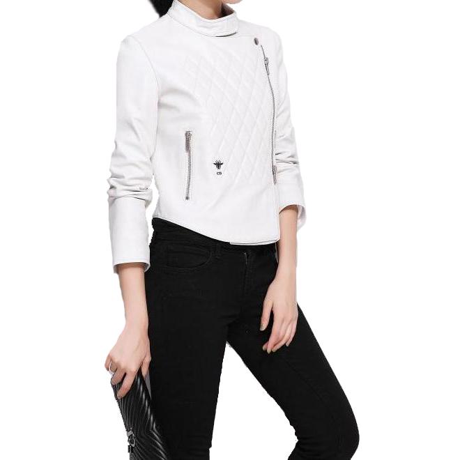 38e900b94f0 Белая кожаная куртка DIOR 13142. Женские кожаные куртки Dior купить ...
