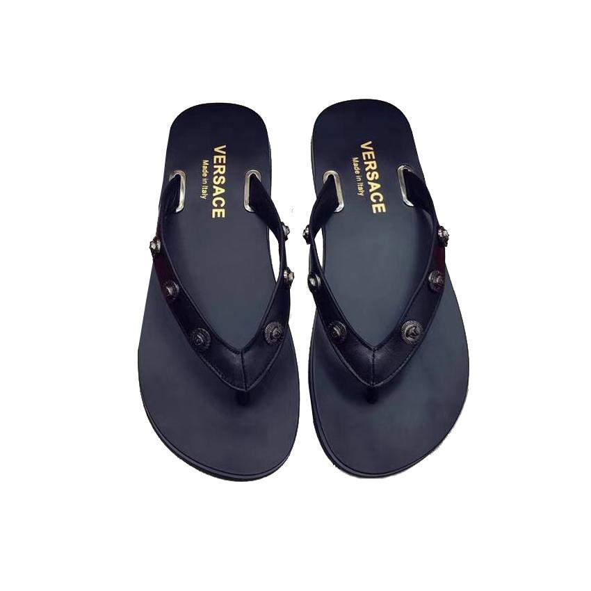 687a098ecb0d Кожаные вьетнамки Versace 6356. Мужские сандалии, шлепанцы Versace ...