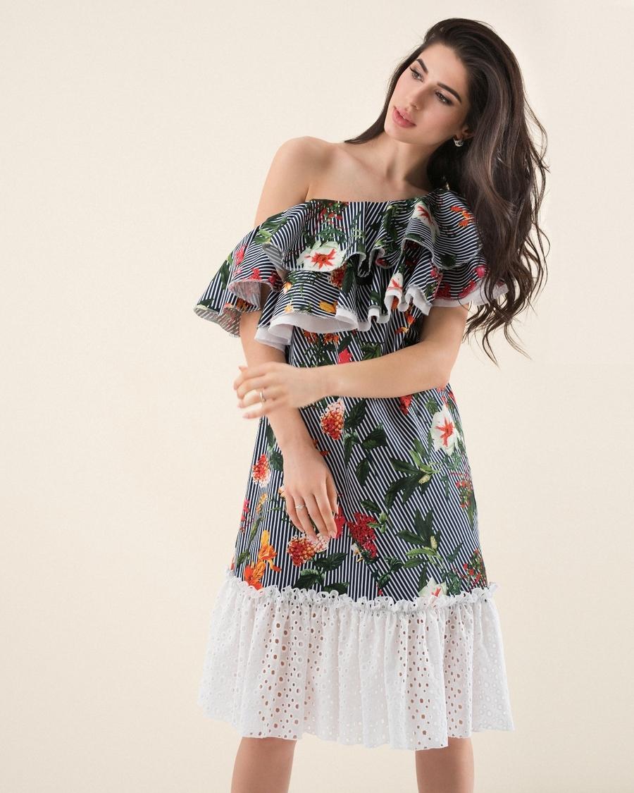f955ee1858d3 Летнее платье-волан Be trendy! 13914. Женские сарафаны Be trendy ...