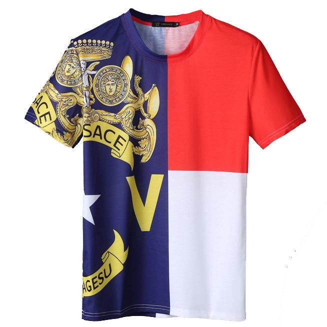 0d062a3d114d8 Стильная мужская футболка от Versace 8122-1. Мужские футболки ...